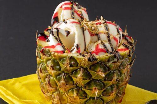 Ananas içi Dondurma